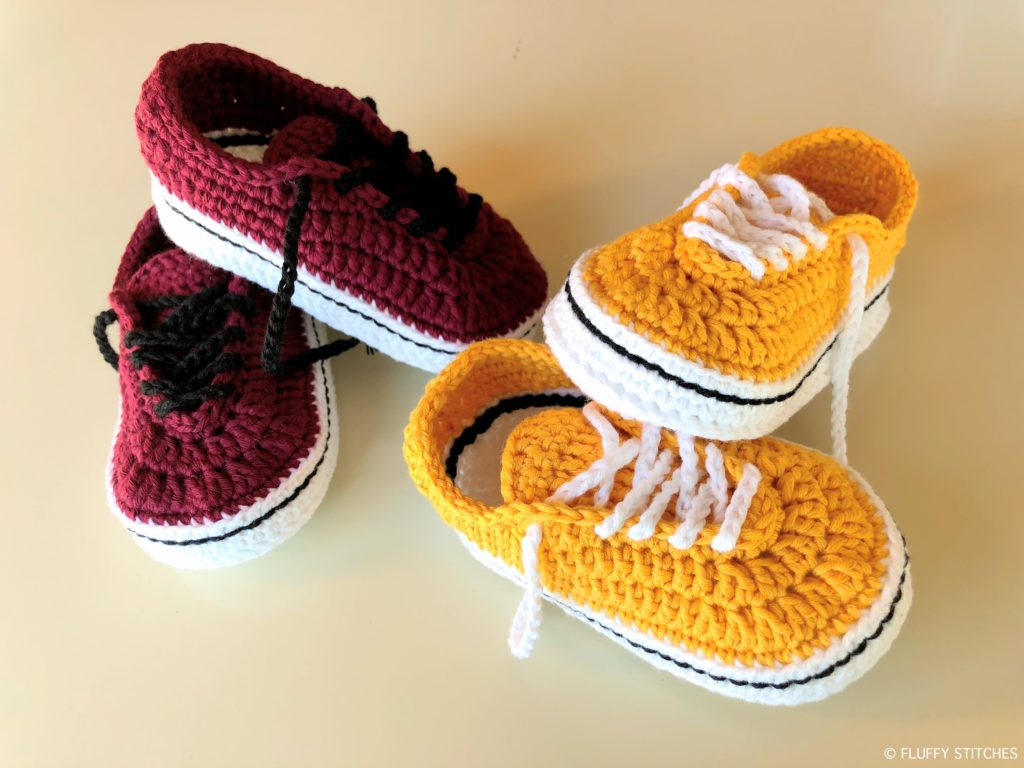 1f9a9e62396f Crochet Baby Vans by Yara - Free Pattern - Fluffy Stitches