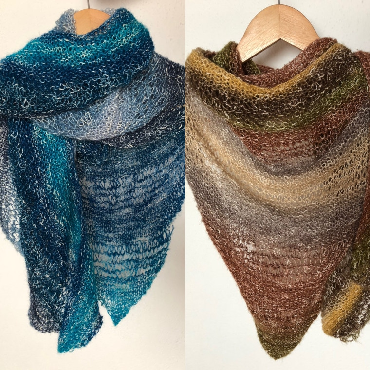 Cover image for my favorite free crochet and knit shawls