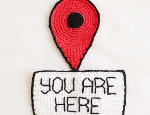 The Crochet You Are Here Sign