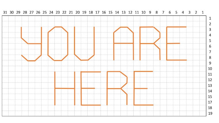 You are here sign schematics